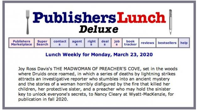 Publishers Lunch Deluxe, Wyatt-MacKenzie, publishers, features THE MADWOMAN OF PREACHER'S COVE